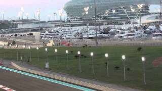 f1 2014 abu dhabi grand prix ricciardo vs vergne south grandstand upper yas marina circuit