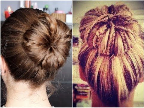 tutoriel coiffure n 21 des tresses dans un chignon youtube. Black Bedroom Furniture Sets. Home Design Ideas