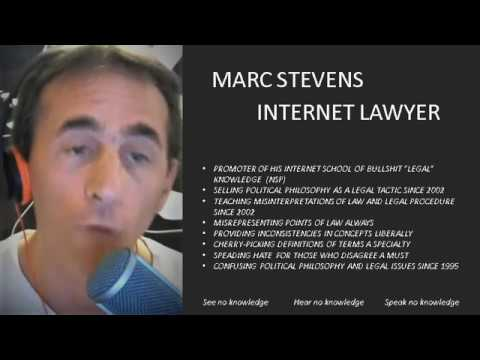 Marc Stevens: Internet Lawyer EXPOSED! Part 1