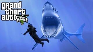GTA 5 - SECRET MEGALODON SHARK EASTER EGG IN GTA 5 (GTA 5 Secrets & Mysteries)