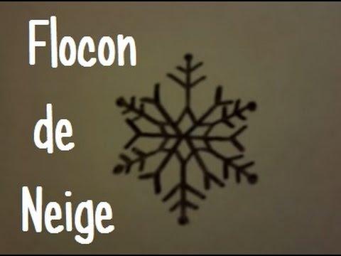 dessiner un flocon de neige version 5 youtube. Black Bedroom Furniture Sets. Home Design Ideas