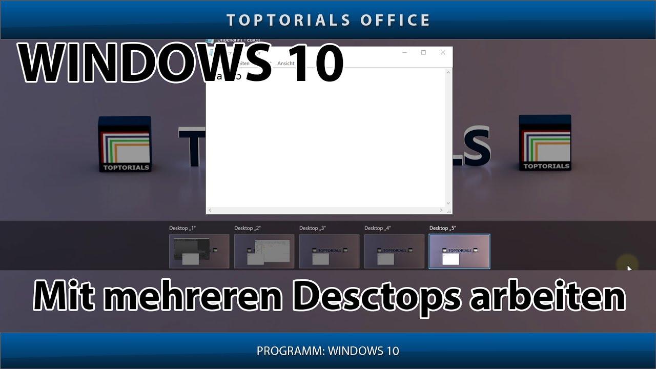 Mehrere Virtuelle Desktops Windows 10 Youtube