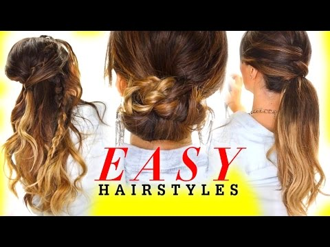 ★ 4 EASY HAIRSTYLES  with Voloom | Everyday Hairstyles