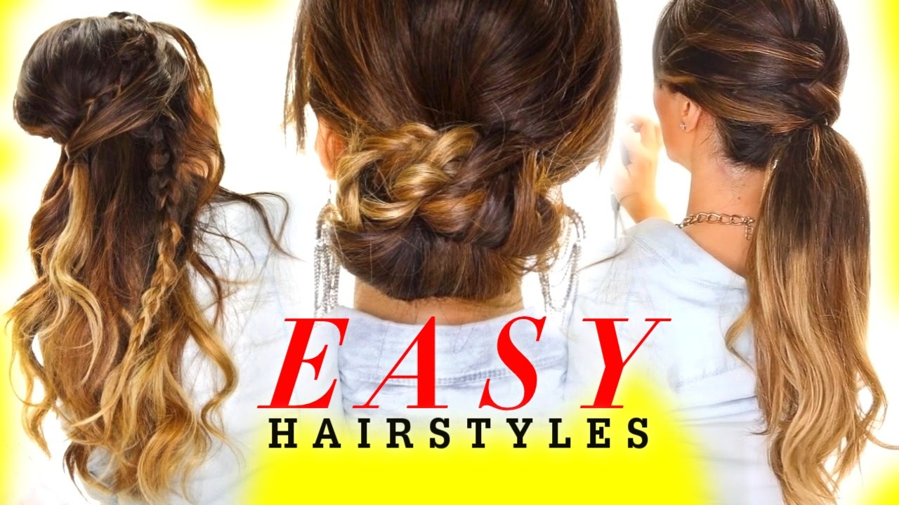 Easy Styles For Long Hair: Everyday Hairstyles - YouTube
