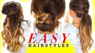 EASY HAIRSTYLES for GREASY Hair with Voloom | Holiday Hairstyles