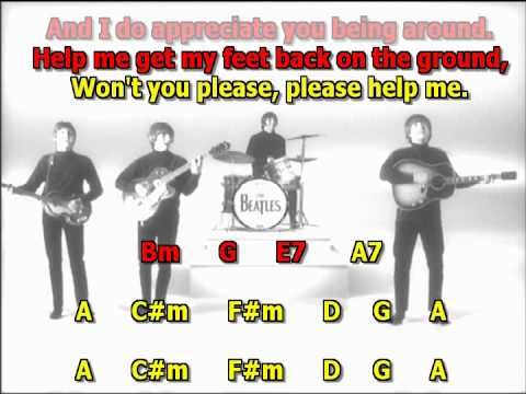 help the beatles best karaoke instrumental lyrics chords