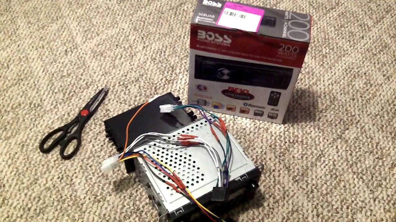 hight resolution of boss car stereo 508uab install in 2000 toyota camry