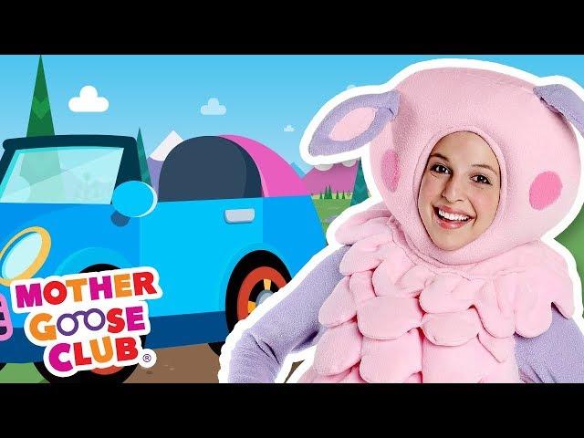 Driving in My Car with Baa Baa Sheep | Mother Goose Club Nursery Rhymes