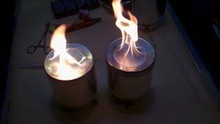 Тесты катализатора горения топлива с бензином. Поджигаем!