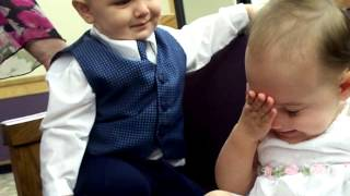 Baby Love - Baby Boy Makes Baby Girl Embarrassed!!! Funny and Cute!!! Must Watch!!!