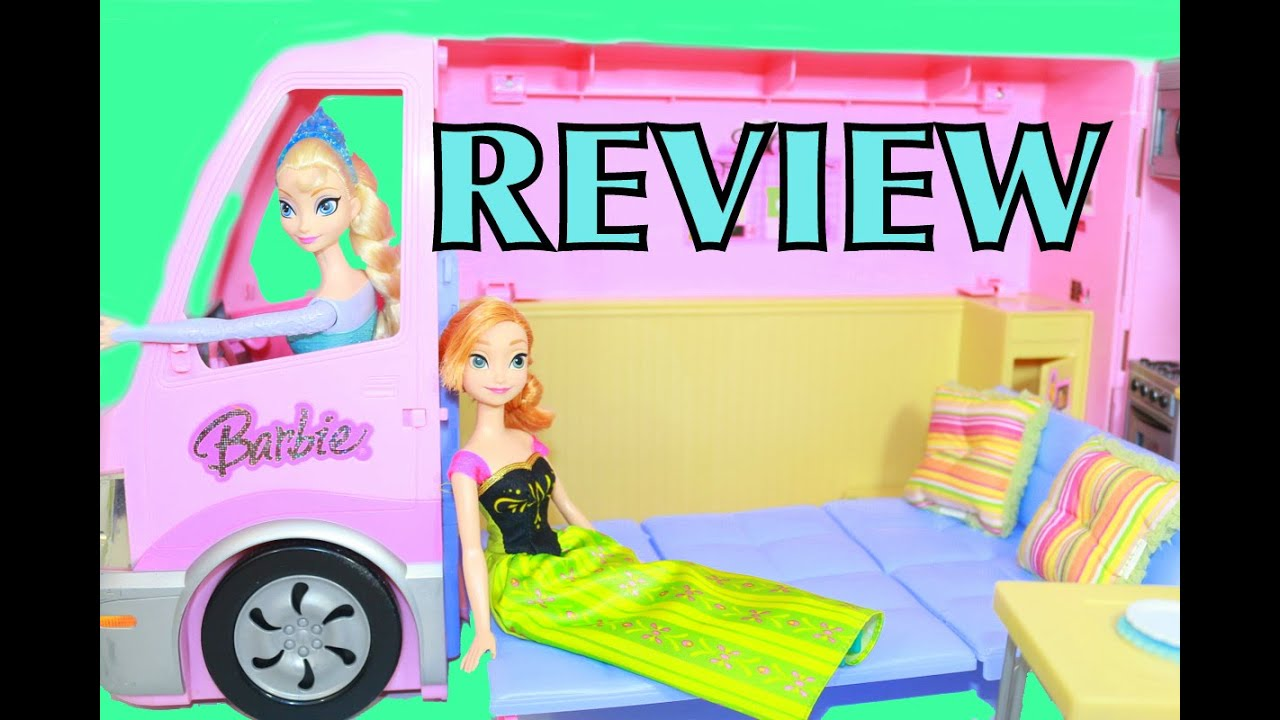 Barbie Rv Motorhome Frozen Elsa Anna Toy Review 2006