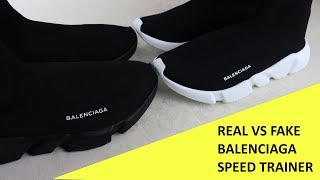 HOW TO SPOT FAKE BALENCIAGA SPEED TRAINERS | Authentic vs Replica Balenciaga Review Guide