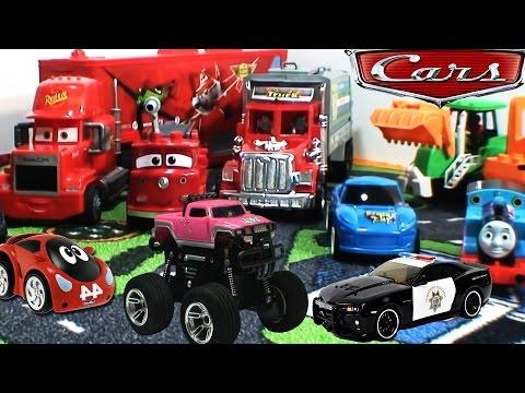 Машины и Грузовики для детей : Учим названия и ЗВУКИ ТРАНСПОРТА - Learning Street Vehicles