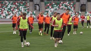 Тренировка сборной Беларуси по футболу перед матчем с Люксембургом в Лиге наций