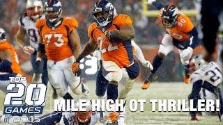 #6: Patriots vs. Broncos (Week 12) | Top 20 Games of 2015 | NFL