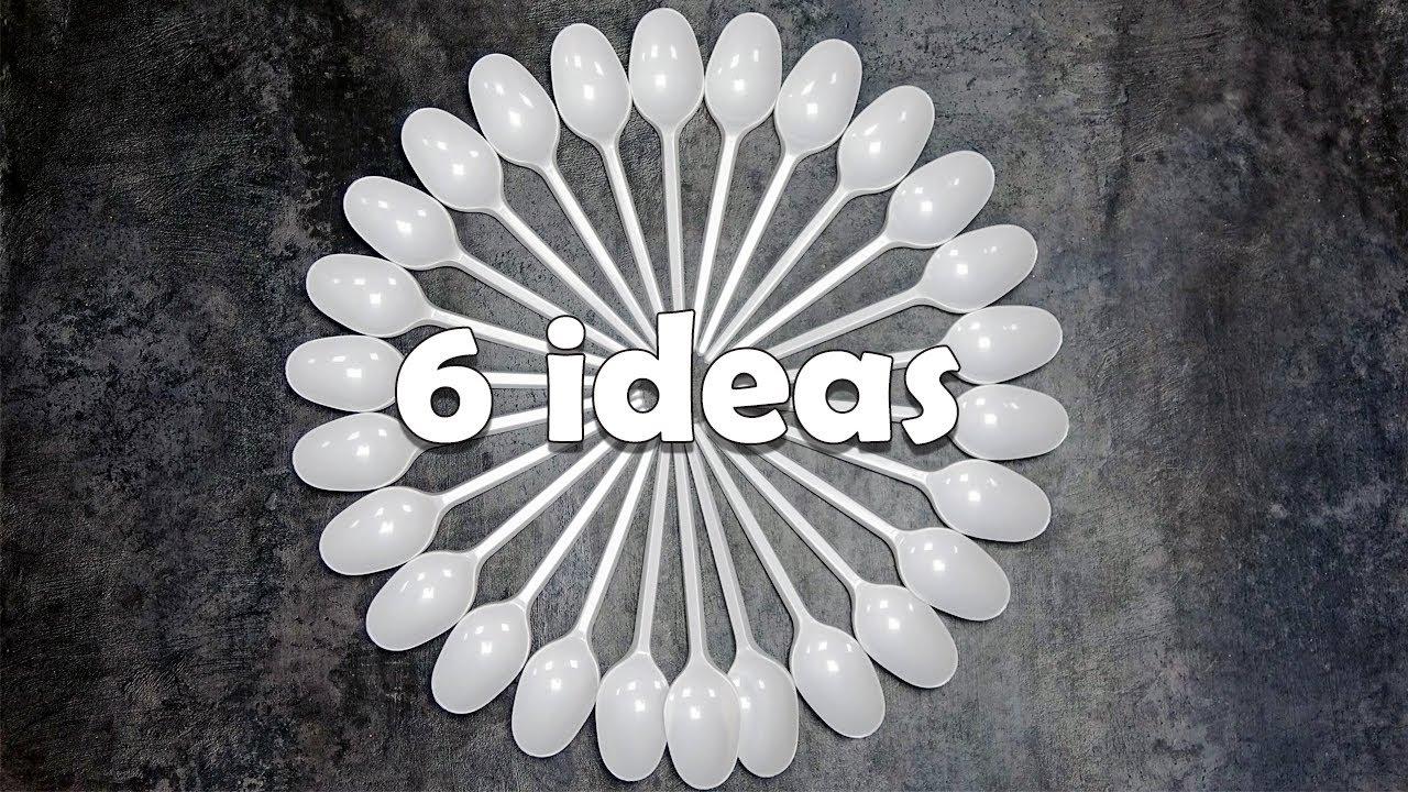 6 идей поделок из пластиковых ложек своими руками