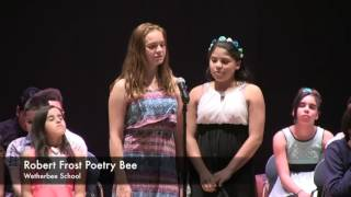 Frost Poetry Bee - Wetherbee School 2016