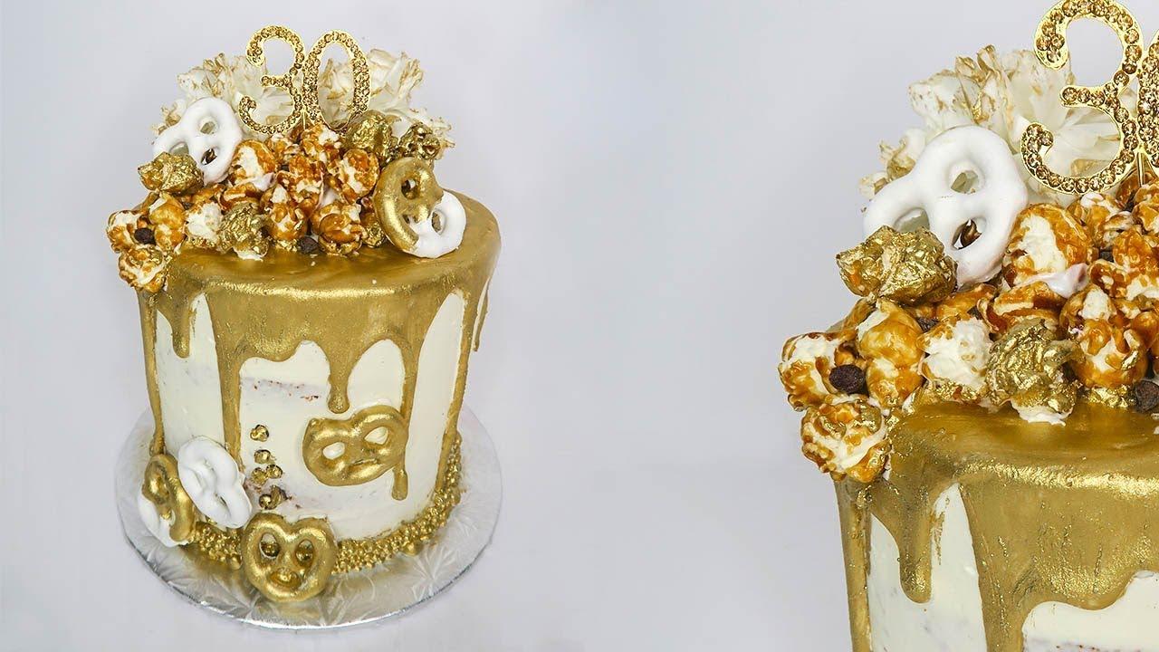 Gold Drip Birthday Cake Mundheep Makes Youtube