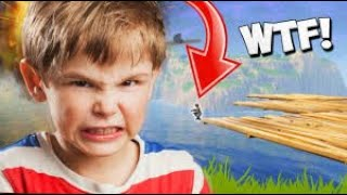 KID gets *MAD* while playing FORTNITE Battle Royale. [Part 1]
