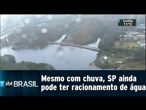 Mesmo com chuva, São Paulo ainda corre risco de racionamento de água | SBT Brasil (31/07/18)