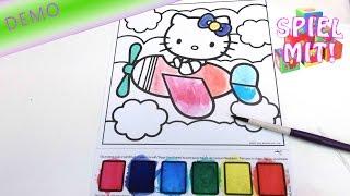 Hello Kitty Magic Painting Poster zum Anmalen Demo