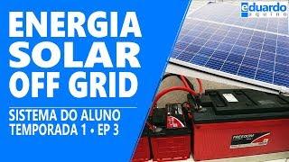 Casa com Energia Solar OffGrid e Transferência Automática   ALUNO Paulo   T8 • #204