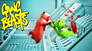 GET IN THE GRINDER!! Funniest Fighting Game Ever - GANG BEASTS (Funny Moments)