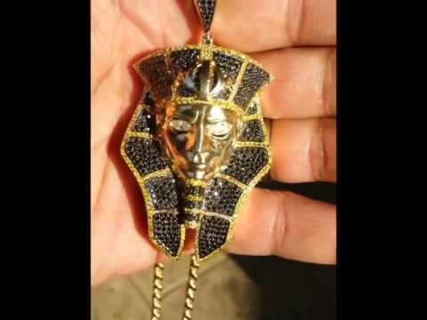 Custom pharaon diamond pendant youtube custom pharaon diamond pendant aloadofball Image collections