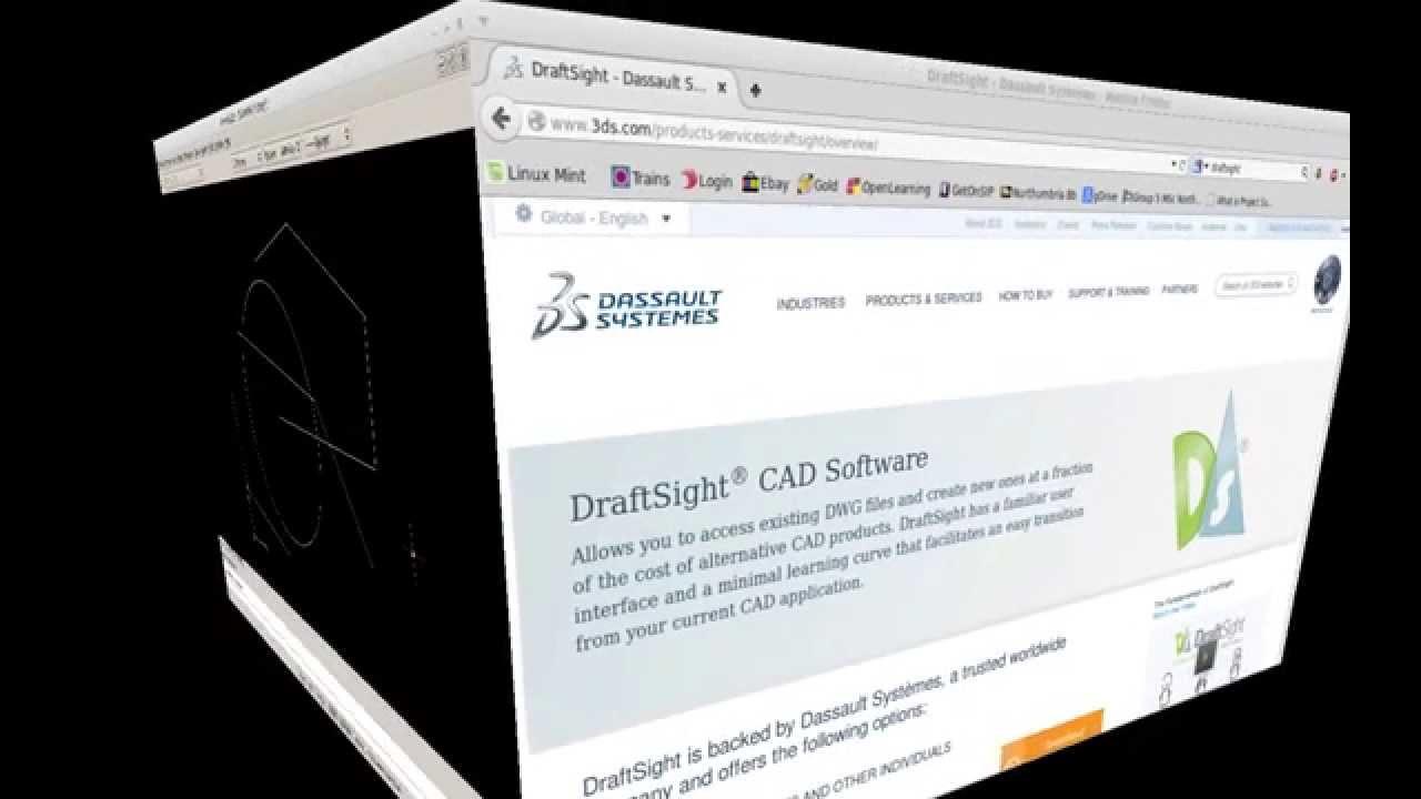 DraftSight - CAD - Look and Feel - Linux Mac Windows 2014 - Free