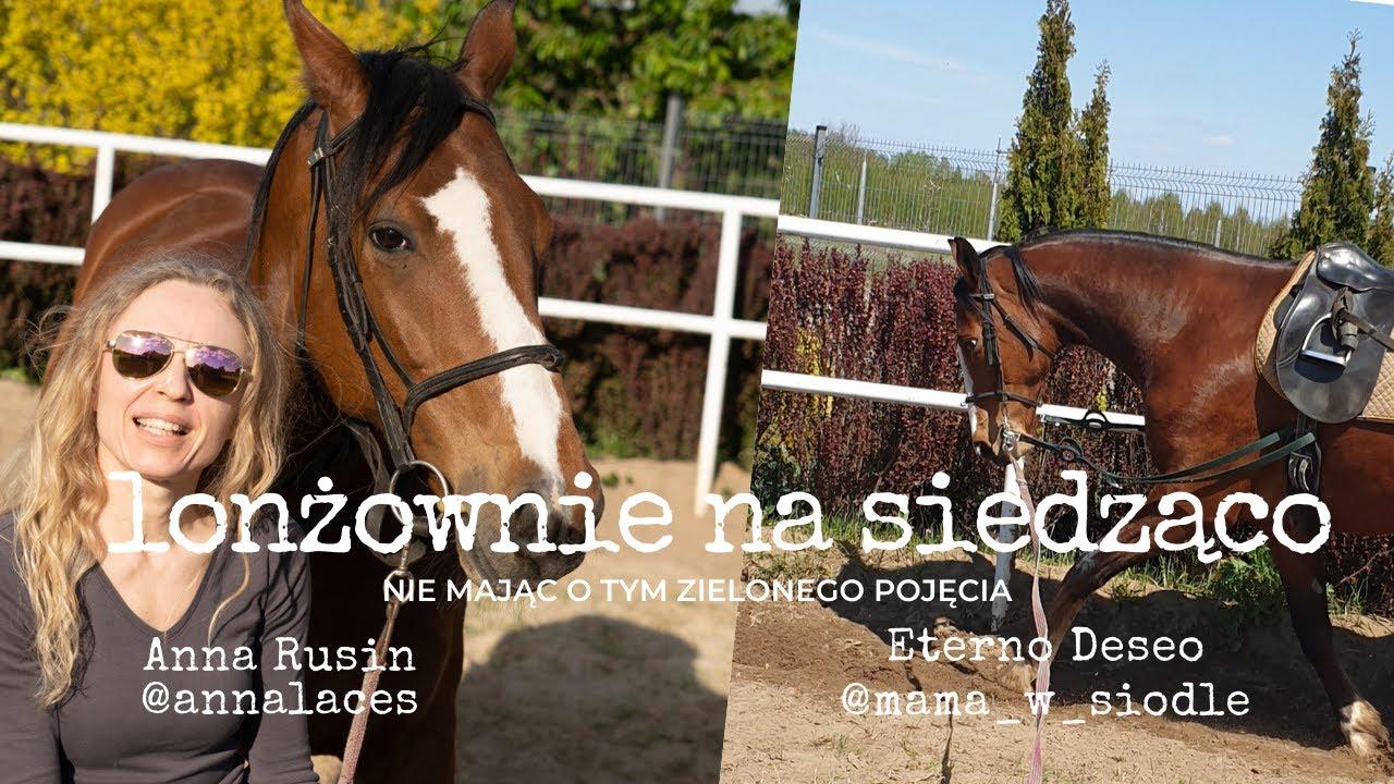 Lonżowanie konia na siedząco - wyzwanie @santi_horse_life