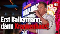 Jürgen Milski hat Unfall bei Auftritt am Ballermann | Mallorca-Sänger muss ins Krankenhaus