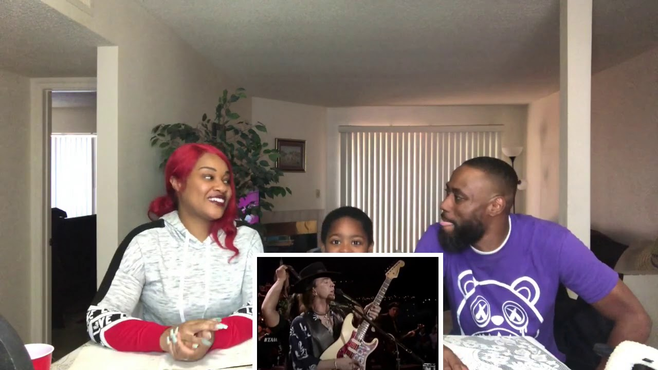 MY SON LOVES STEVIE RAY VAUGHAN- LOOK AT LITTLE SISTER (REACTION VIDEO)