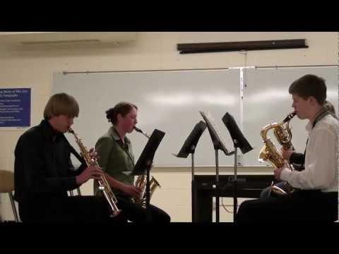 Warren Township High School Sax Quartet - del Borgo's Quartet for Saxophones