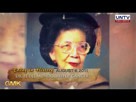 Death anniversary of Dr. Fe del Mundo, a respected  Filipino pediatrician and scientist