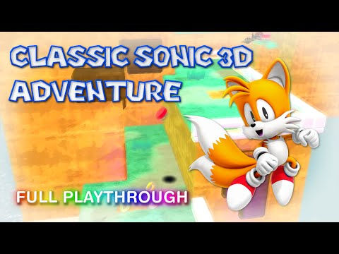 classic sonic 3D adventure (Tails) playthrough