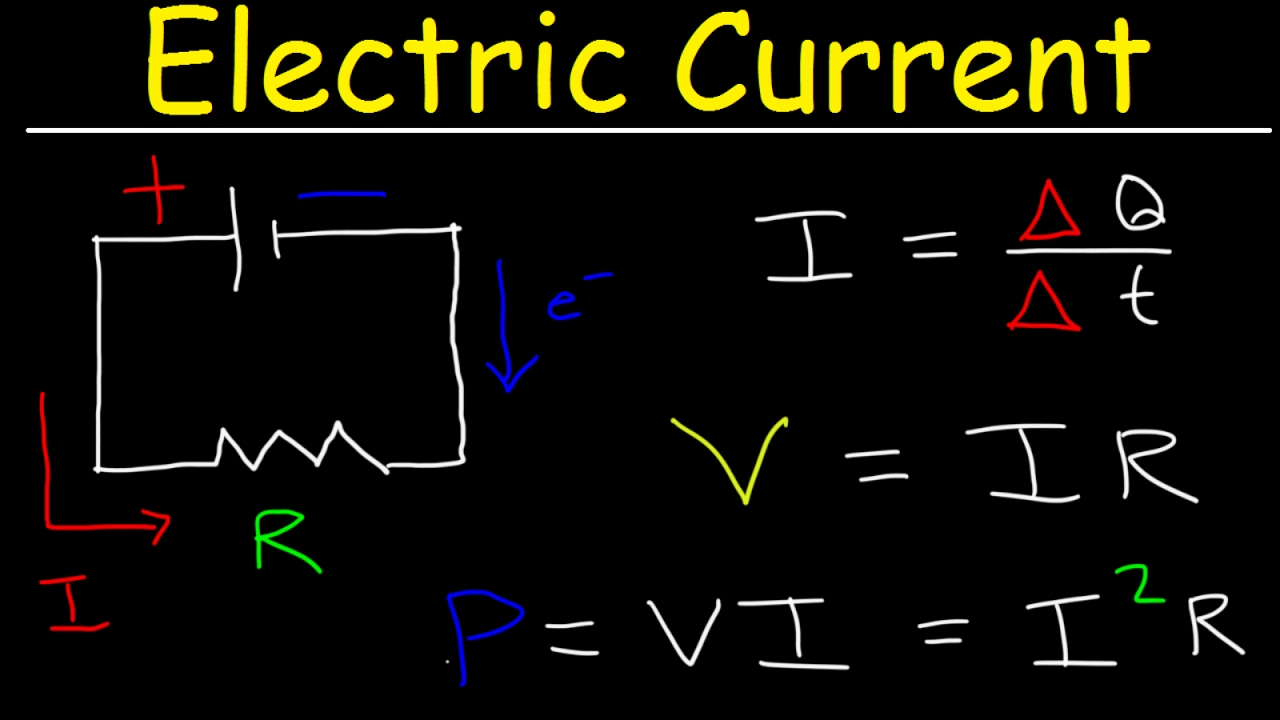 electric current circuits explained ohm s law charge power physics problems basic electricity [ 1280 x 720 Pixel ]