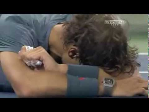 Rafael Nadal wins 2013 US Open!  Nadal crying after winning the US Open 2013