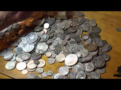 silver coins, love that sound!