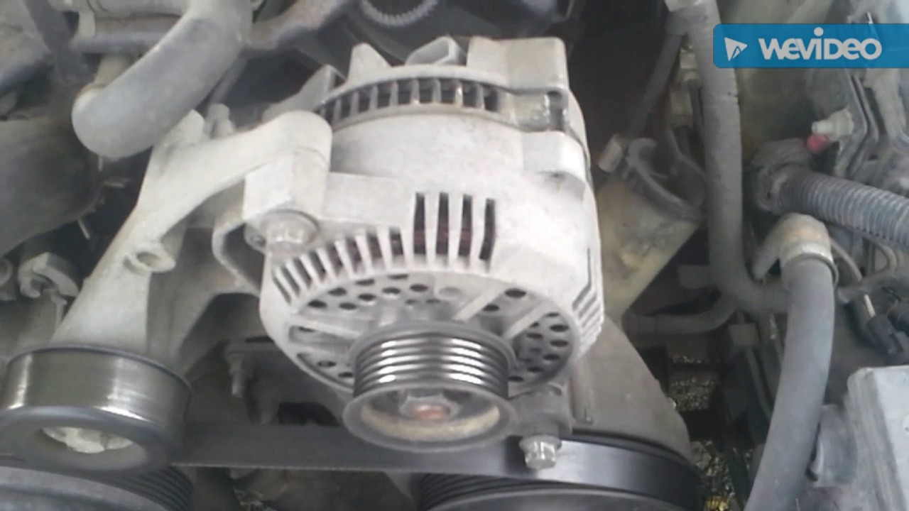 How to replace the alternator on a ford mustangranger or thunder bird with a 3 8l engine