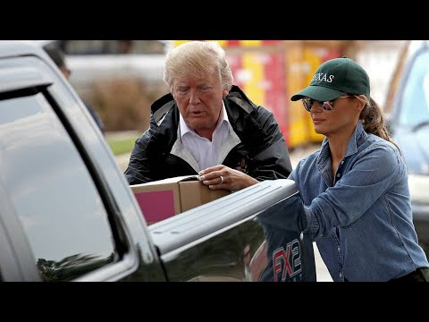 President Trump, Melania Trump visit Houston shelter