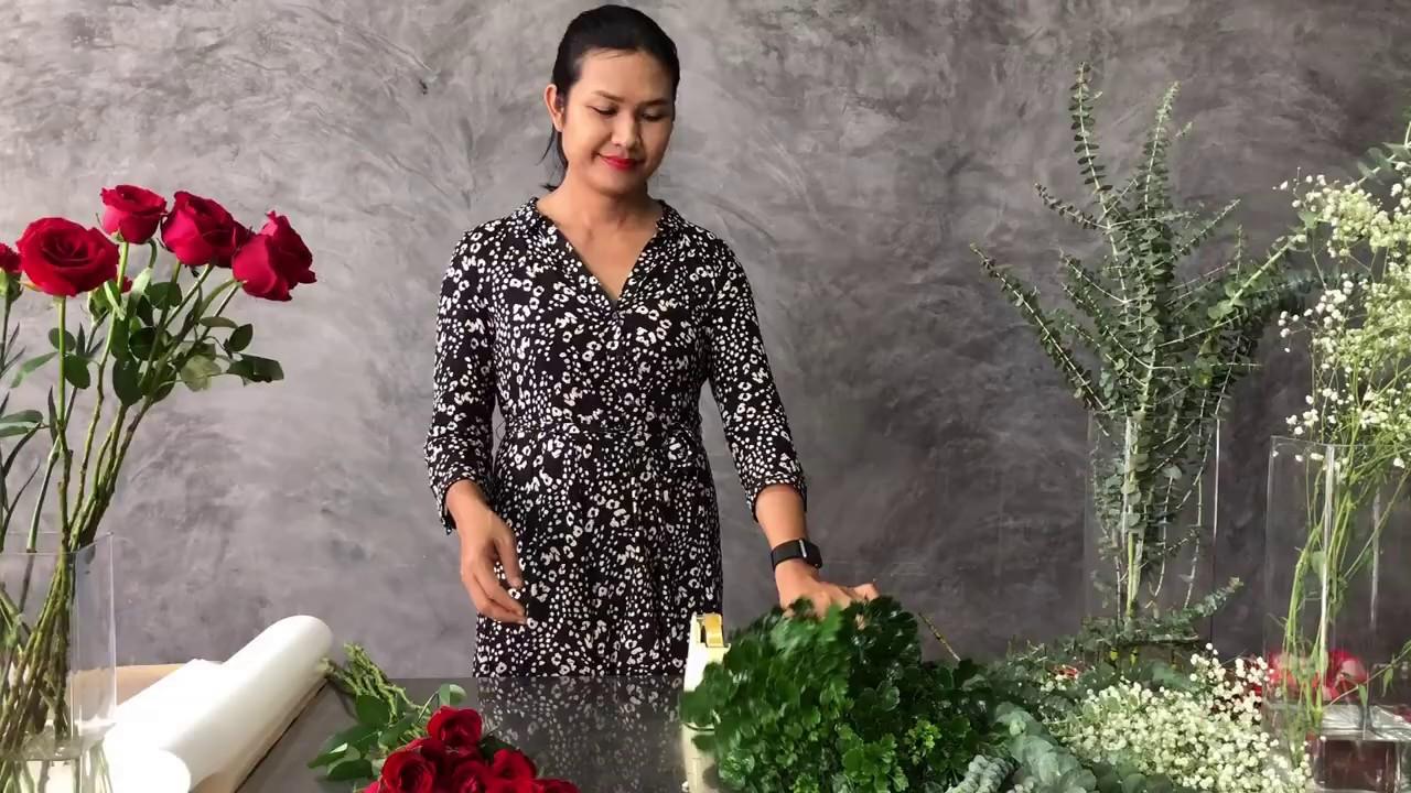 จัดช่อดอกไม้ Ep.1 กุหลาบแดง เซอร์ไพรส์ แสดงความยินดี