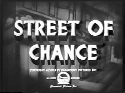 "Movie ""Street of chance"" - 1942 - starring Burgess Meredith, Claire Trevor and Louise Platt"