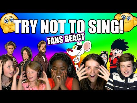 Fans react to CBBC Try Not To Sing challenge! | TV Themes
