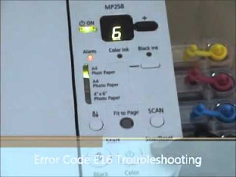 problem solving canon mp258