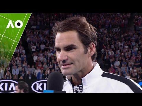 Roger Federer on court interview (QF) | Australian Open 2017