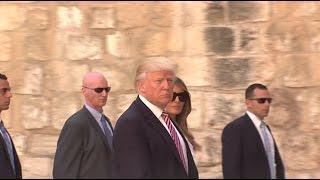 Визит Трампа в Израиль запомнился конфузами