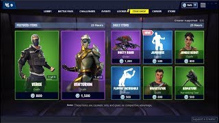 *NEW*Jamboree Emote & Venturion Skin (Back)! Fortnite Item Shop February 27, 2019