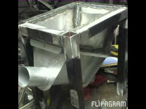 Homemade Mobile Feeder Filler Flexible Auger