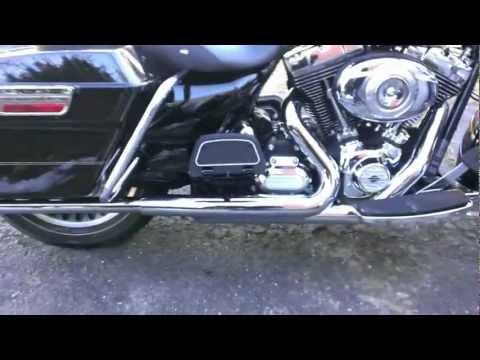 2012 Harley Road King Stock To Straight Fishtail Pipes