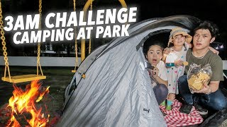 Camping OVERNIGHT At The Park (3AM Challenge) | Ranz and Niana